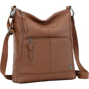 The Sak Lucia Leather Crossbody Bag - Brown